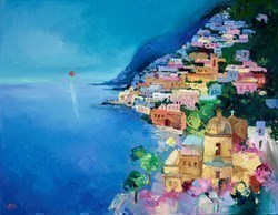 Positano IV by Anna Gammans -  sized 18x14 inches. Available from Whitewall Galleries